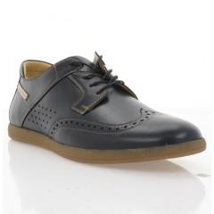 Туфли мужские черные/бежевые, кожа (1968 чн. Шк_беж) Roma style