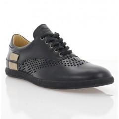 Туфлі чоловічі чорні, шкіра (1970 D чн. Шк_беж) Roma style