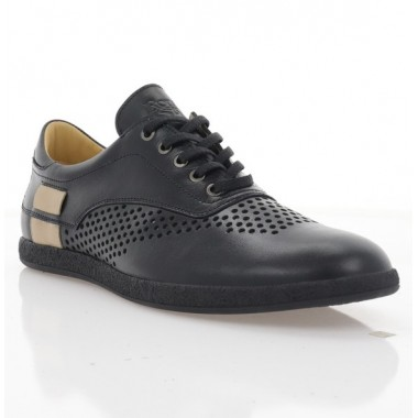 Туфли мужские черные, кожа (1970 D чн. Шк_беж) Roma style