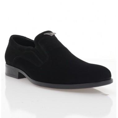 Туфли мужские черные, велюр (1973 чн. Вл) Roma style