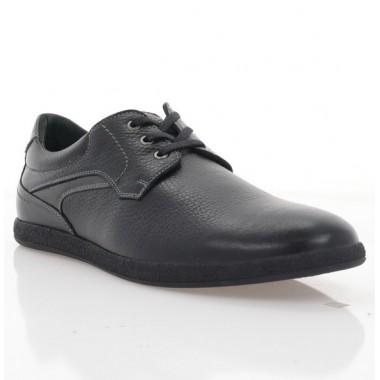 Туфли мужские черные, кожа (1976 чн. Фл) Roma style