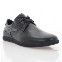 Туфли мужские черные, кожа (1976 чн. Шк) Roma style