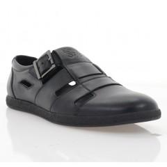 Туфли мужские черные, кожа (1983 D чн. Шк) Roma style