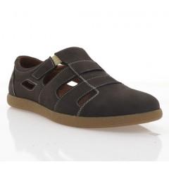 Туфли мужские коричневые, нубук (1983 D кор. Нб) Roma style