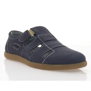 Туфли мужские синие, нубук (1983 D сн. Нб) Roma style