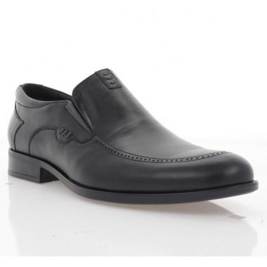 Туфли мужские черные, кожа (1985 чн. Шк) Roma style