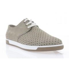 Туфли мужские капучино, нубук (5039 сіро-беж. Нб) Roma style