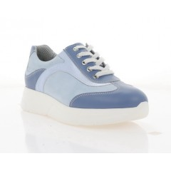 Кросівки жіночі голубі, шкіра/нубук (2105-21 голуба Шк) Roma style