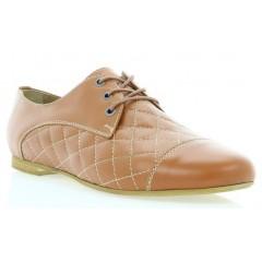 Туфли женские рыжие, кожа (2167/1 риж. Шк) Roma style