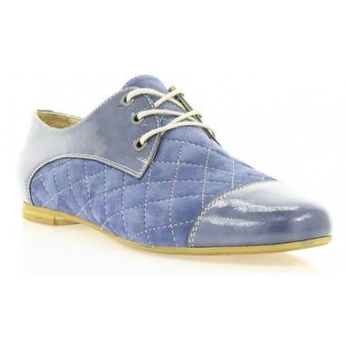 Купити Туфлі жіночі сині, лакована шкіра/велюр (2167 сн. Вл+Лк) Romastyle за найкращими цінами