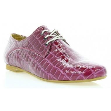 Купити Туфлі жіночі малинові, лакована шкіра (2196_1 мал. Лк) Romastyle за найкращими цінами