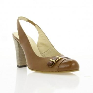 Купити Туфлі відкриті жіночі рижі, шкіра (2212 рж. Шк) Romastyle за найкращими цінами