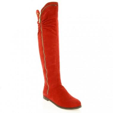 Купити Чоботи жіночі червоні, замш (2380 черв. Зш (шерсть)) Romastyle за найкращими цінами
