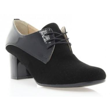 Купити Ботильйони жіночі чорні, велюр/лакована шкіра (2413/17 чн. Вл+Лк) Roma style за найкращими цінами