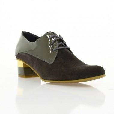 Купити Туфлі жіночі сірі,замш/лакована шкіра (2413 сір. Зш) Romastyle за найкращими цінами