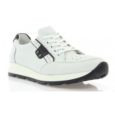 Купити Кросівки жіночі білі/чорні, шкіра (2414/17 біл. Шк_чорн вст) Roma style за найкращими цінами