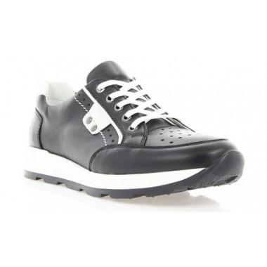 Купити Кросівки жіночі чорні, шкіра (2414/17 чн. Шк_біл вст) Roma style за найкращими цінами
