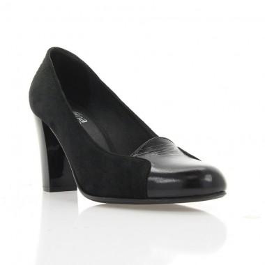 Купить Туфли женские черные , велюр / лакированная кожа ( 2415 чн.  Вл + Лк ) Romastyle по лучшим ценам