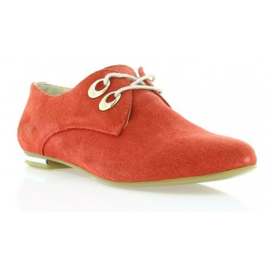 Купити Туфлі жіночі червоні, замш (2424 черв. Зш) Romastyle за найкращими цінами