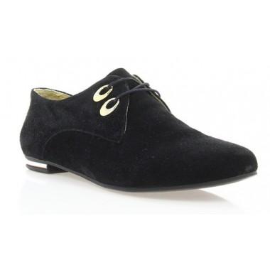 Купити Туфлі жіночі чорні, замш (2424 чн. Зш) Romastyle за найкращими цінами