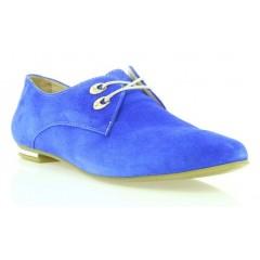 Туфли женские голубые, замша (2424/1 гол. Зш ) Roma style