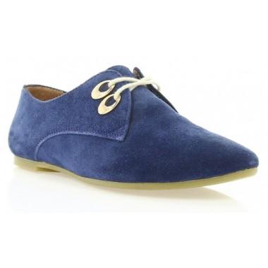Туфли женские синие, замша (2424/1 сн. Зш) Romа style