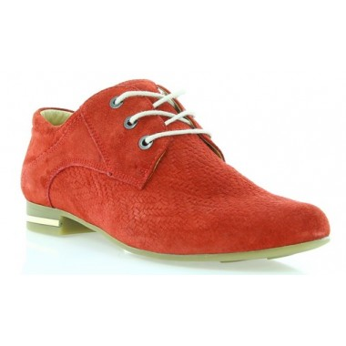 Купить Туфли женские красные , замша ( 2430 красн. Зш ) Romastyle по лучшим ценам