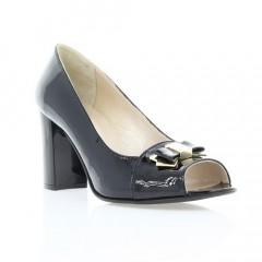 Туфли женские открытые черные, лакированная кожа (2460/17 чн. Лк) Roma style