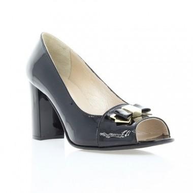 Купить Туфли женские открытые черные, лакированная кожа (2460/17 чн. Лк) Roma style по лучшим ценам