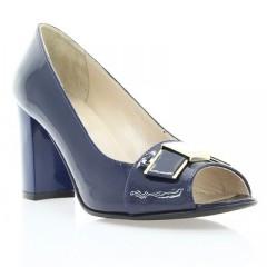 Туфли женские открытые синие, лакированная кожа (2460/17 сн. Лк) Roma style