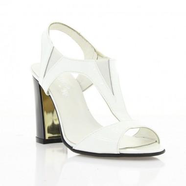 Купити Босоніжки жіночі білі, лакована шкіра (2468/16 біл. Лк) Romastyle за найкращими цінами
