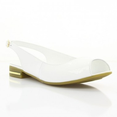 Купить Босоножки женские белые, лакированная кожа (2478/17 біл. Лк) Roma style по лучшим ценам