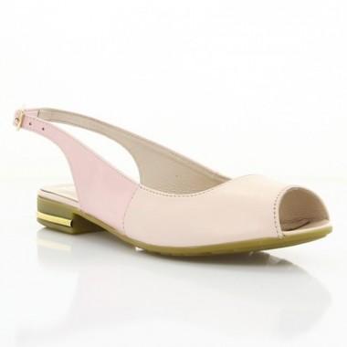 Купити Босоніжки жіночі рожеві, лакована шкіра/шкіра (2478/17 рож. Шк) Roma style за найкращими цінами