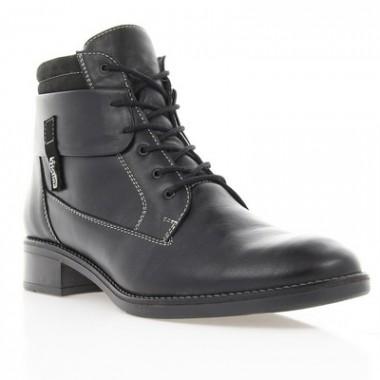 Купить Ботинки женские черные, кожа (2506 чн. Шк (шерсть)) Romastyle по лучшим ценам