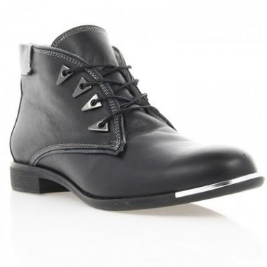 Купить Ботинки женские черные, кожа (2507 чн. Шк (шерсть)) Romastyle по лучшим ценам