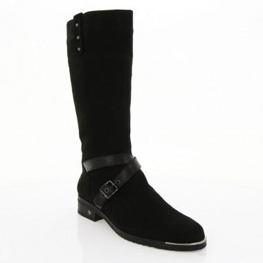 Купити Чоботи жіночі чорні, нубук (2543 чн. Нб (шерсть)) Romastyle за найкращими цінами
