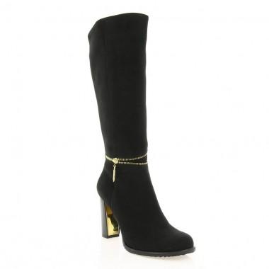 Купити Чоботи жіночі чорні, велюр (2551 чн. Вл (шерсть)) Romastyle за найкращими цінами