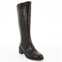 Чоботи жіночі коричневі, лакована шкіра (2553-18 кор. Лк (байка)) Roma style