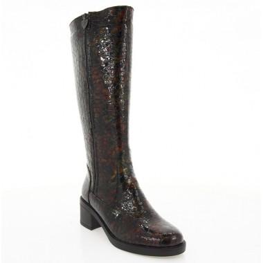 Купить Сапоги женские коричневые, лакированная кожа (2553-18 кор. Лк (байка)) Roma style по лучшим ценам