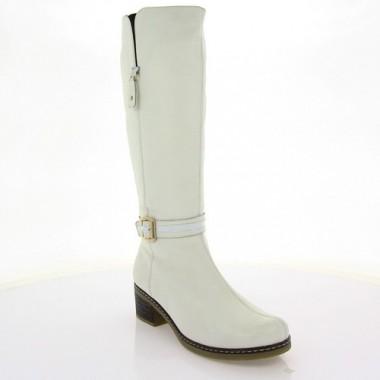 Купити Чоботи жіночі білі, шкіра (2571 біл. Фл (шерсть)) Romastyle за найкращими цінами