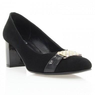 Купити Туфлі жіночі чорні, велюр/лакована шкіра (2620 чн. Вл+Лк) Romastyle за найкращими цінами