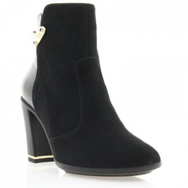 Купить Ботинки женские черные, велюр (2633 чн. Вл (байка)) Romastyle по лучшим ценам