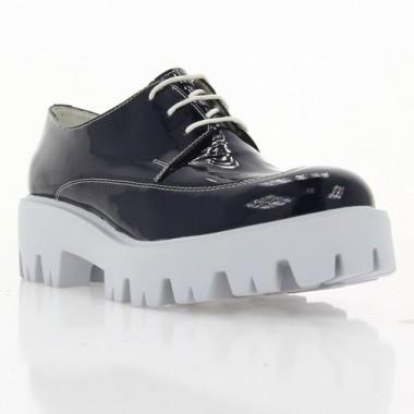 Купити Туфлі жіночі сині, лакована шкіра (2668 сн. Лк) Romastyle за найкращими цінами
