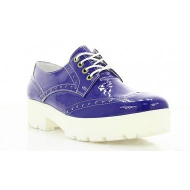 Купить Туфли женские синие , лакированная кожа ( 2669 сн . Лк ) Romastyle по лучшим ценам