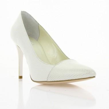Купить Туфли женские белые , кожа ( 2672 біл. Шк ) Romastyle по лучшим ценам
