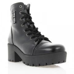 Ботинки женские черные, кожа (2708 чн. Шк (шерсть)) Romastyle