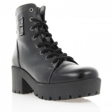 Купить Ботинки женские черные, кожа (2708 чн. Шк (шерсть)) Romastyle по лучшим ценам