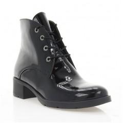 Ботинки женские черные, лакированная кожа (2711 чн. Лк (шк. підкл)) Roma style