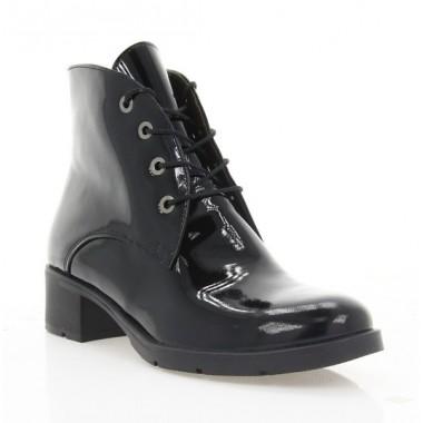 Купить Ботинки женские черные, лакированная кожа (2711 чн. Лк (шк. підкл)) Roma style по лучшим ценам