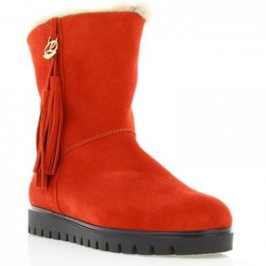 Купить Ботинки женские красные, замш (2713 черв. Зш (шерсть)) Romastyle по лучшим ценам